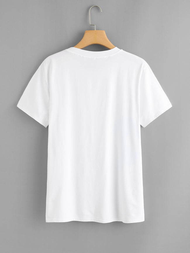 White Loose Fitting TShirt