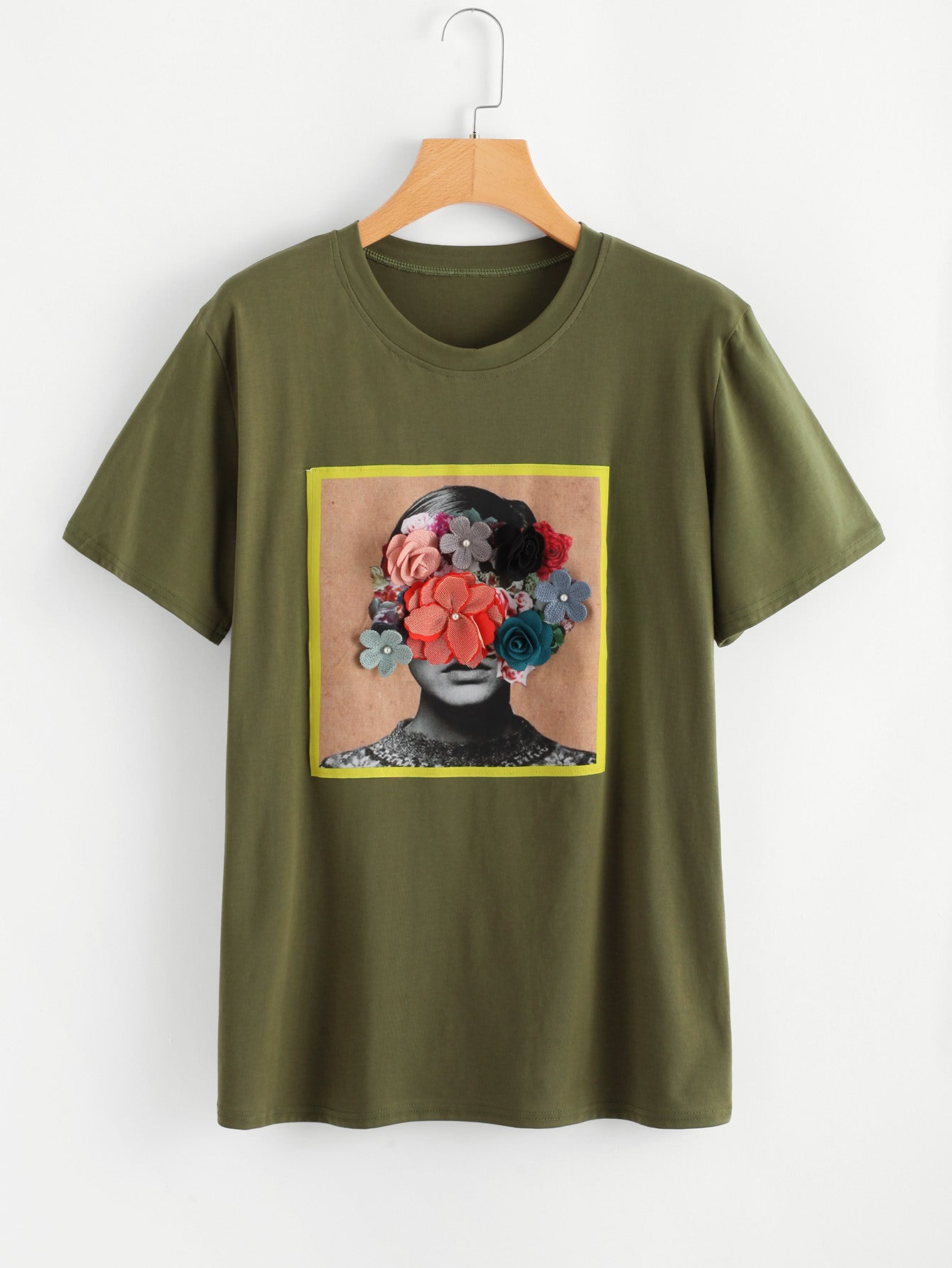 Saphy- Green Loose Fitting T-Shirt