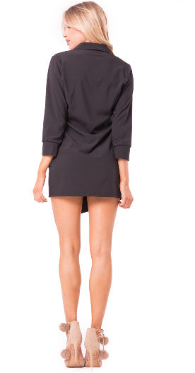 Black Mini Blazer Dress