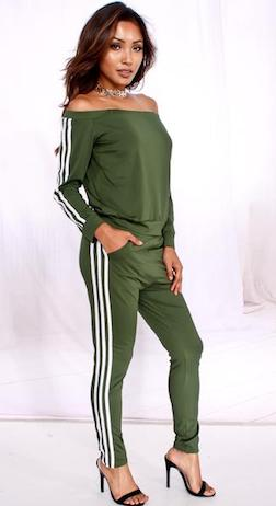 Green Co-Ordinate Lounge Wear