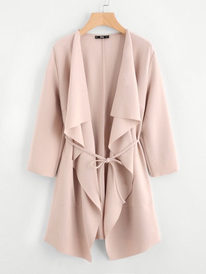 Tilly - Nude Waterfall Jacket