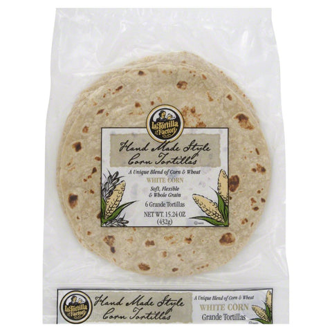 LA TORTILLA WHITE CORN WRAP 432G