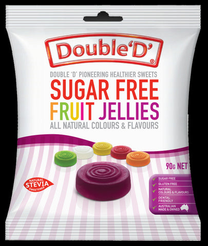SUGAR FREE FRUIT JELLY ROUNDS 70G