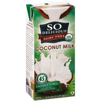 So Delicious- Coconut Beverage Unsweetened 946 ml