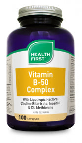 Vit. B-50 Complex w/Lip. Factors Capsules 100