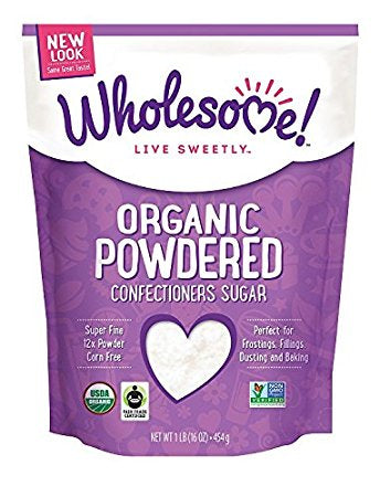 WHOLESOME SWEETENERS Icing (Powdered) Sugar 454 g