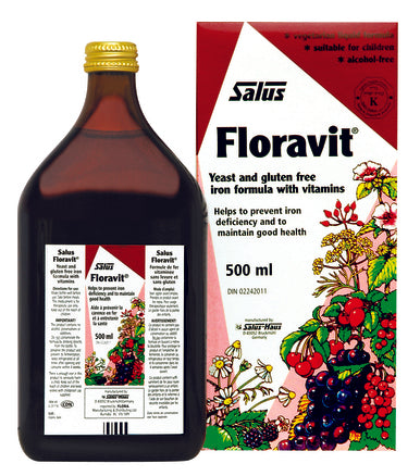 Floravit Liquid Iron with Vitamins, Yeast & Gluten Free 500ml