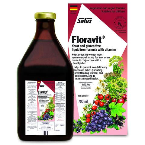 Floravit Liquid Iron with Vitamins, Yeast & Gluten Free 700ml
