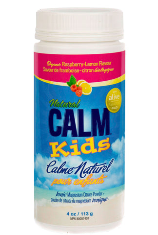 NATURAL CALM kids rasberry lemon flavour 113g