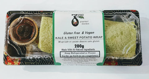 Kale & Sweet Potato Wraps GF