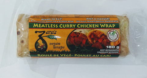 MEATLESS CURRY CHICKEN WRAPS