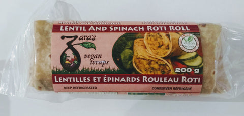 LENTIAL & SPINACH ROTI ROLL