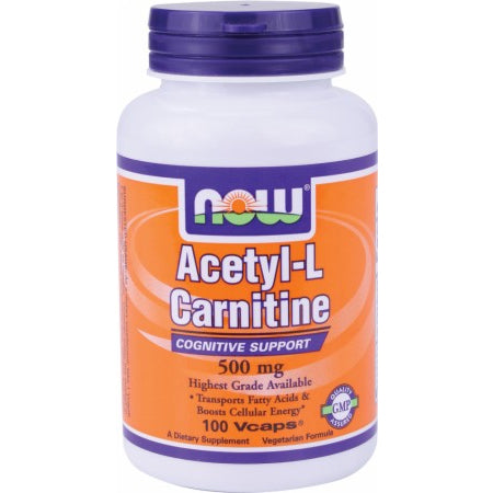 Now Acetyl-L Carnitine 500mg 100vcaps