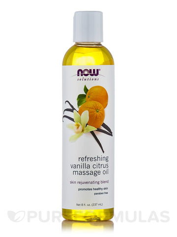 Now Refreshing Vanilla Citrus Massage Oil 237ml