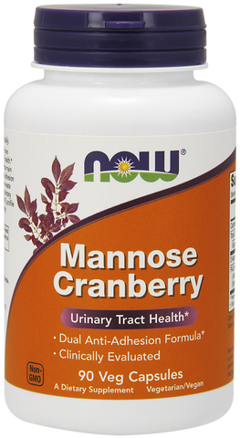 NOW MANNOSE CRANBERRY 700MG 90 V CAPS
