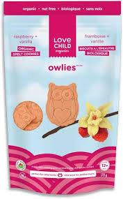 LOVE CHILD OWLIES RASBERRY + VANILLA 170g