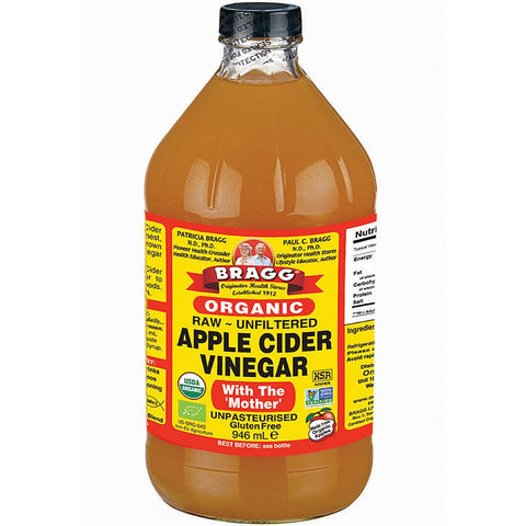 Braggs Raw Unfiltered Apple Cider Vinegar 946 ml