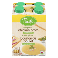 ORGANIC CHICKEN BROTH LOW SODIUM 4 PACK 944ML