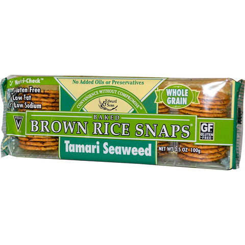 Tamari seaweed brown rice snaps 3.6oz