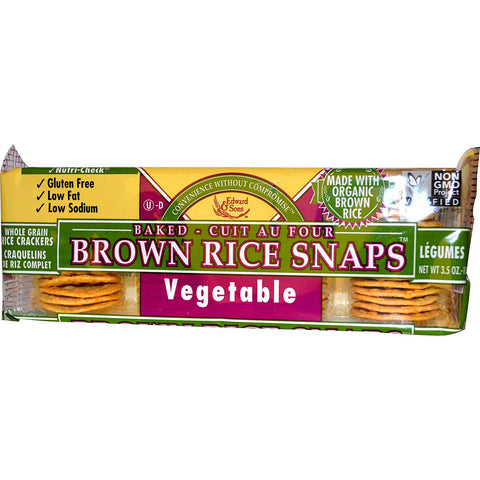 Organic vegetable brown rice snaps 3.6oz