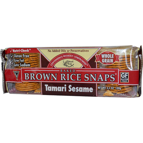 Tamari sesame brown rice snaps 3.6oz