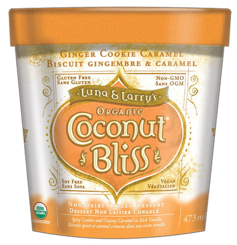 org coconut bliss ginger cookie caramel