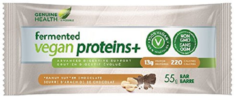 fermented vegan Proteins+ Peanut Chocolate Chip Bar