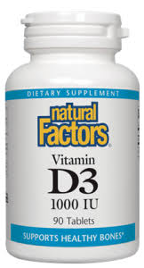 Natural Factors D3 1000IU 90 tab