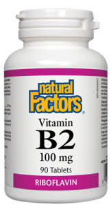 Natural Factors Vit.B-2 Riboflav 100MG 90 Tab