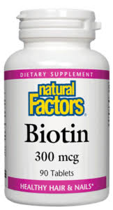 Natural Factors Biotin 300MCG 90 Tab