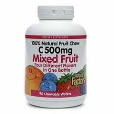 Natural Factors C 500mg Mix Chw 90 Tab