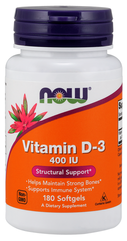 NOW Vitamin D-3 400 IU 180gel
