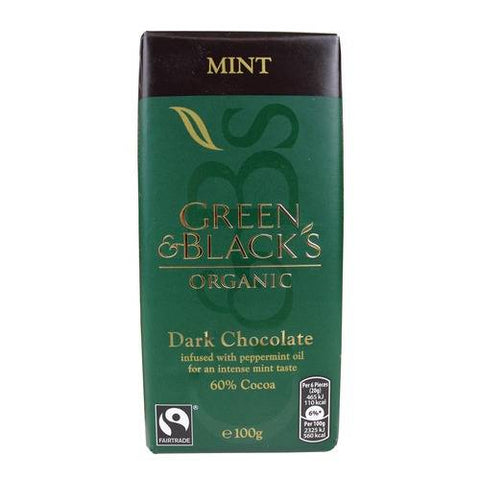 MINT INFUSED DARK CHOCOLATE WITH PEPPERMINT OIL 100G