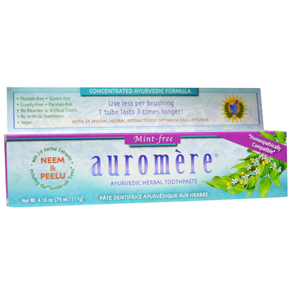 auromere mint free toothpaste