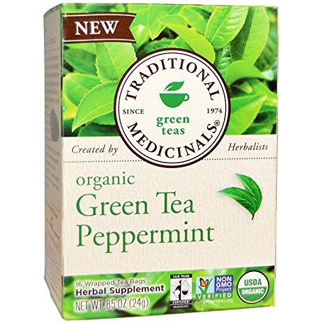 green tea with peppermint