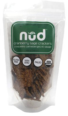 Nud Food Cranberry Sage Crackers