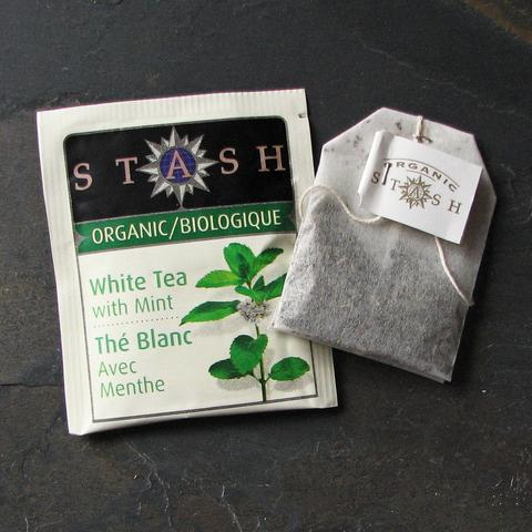 ORG WHITE TEA WITH MINT
