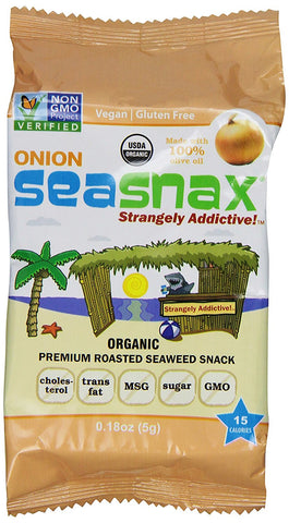 ONION ORGANIC SEAWEED SNACKS 5G