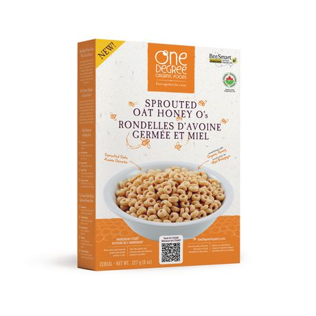 One Degree Sprouted oat Honey O's 227g