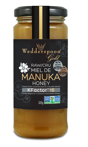 manuka honey k factor 16, 325g glass jar