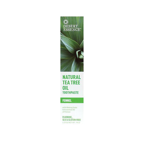 Desert Essence Tea Tree Toothpaste, Fennel