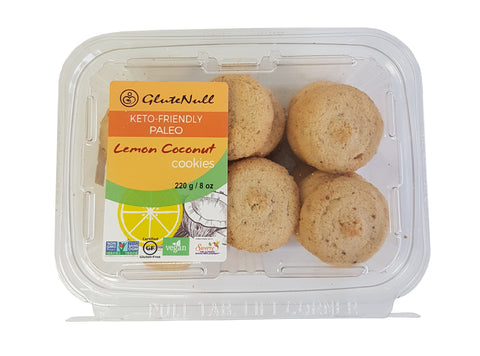 KETO/PALEO FRIENDLY LEMON COCONUT COOKIES 220 G