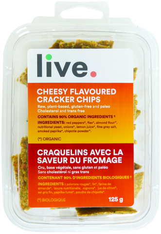 Live Cheesy Crackers 125g