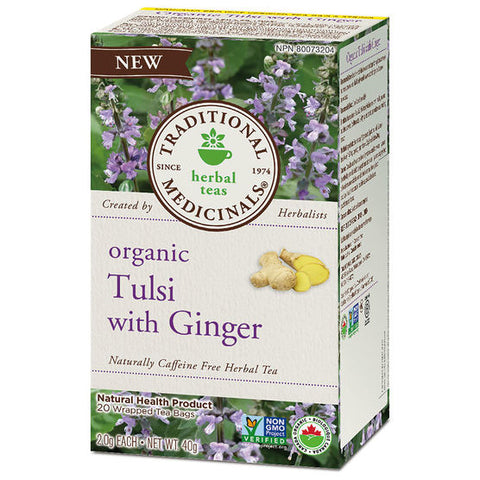organic tulsi with ginger 20 tea bags