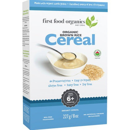 First Food Brown Rice Cereal 227g