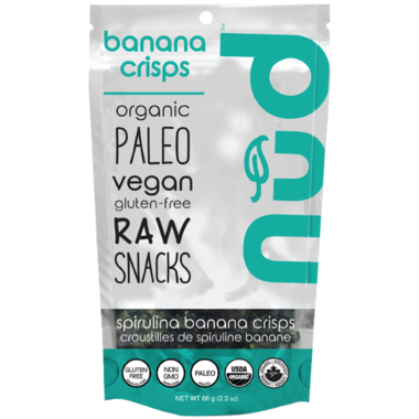 spirulina banana crackers 66g