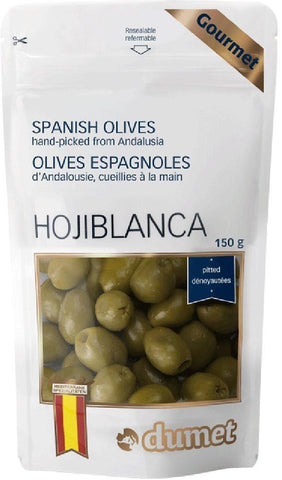 DUMET GREEN SPANISH OLIVES150G