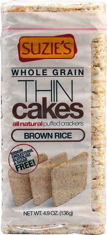 THIN CAKES, BROWN RICE, 136G