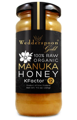 manuka honey k factor 12, 325g glass jar
