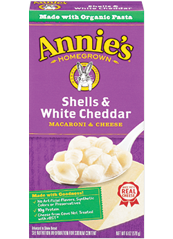 ORGANIC SHELLS AND WHITE CHEDDAR 170G